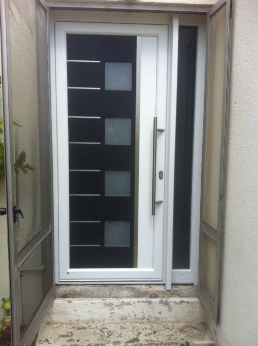Exemple D 39 Installation De Portes D 39 Entr Es Sur Marseille For Installer  Chatiere Porte